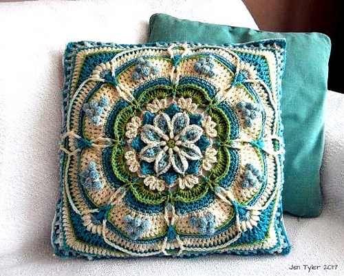 Gorgeous Large Super-Textured, Decorative Floral Block
