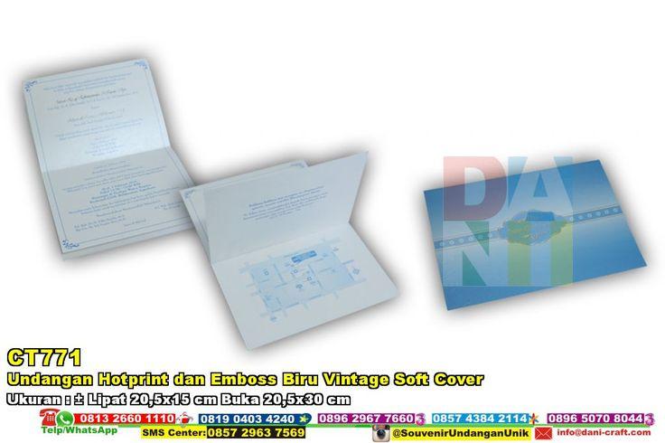Undangan Hotprint Dan Emboss Biru Vintage Soft Cover WA/SMS/TELP 0896 3012 3779 #UndanganHotprint #HargaHotprint #souvenirPernikahan #contohundanganPernikahan