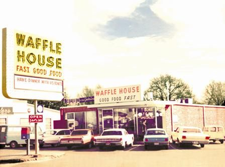 This house is so great, it's been copied 1600 times in 25 states! What list of great houses would be complete without it? The first Waffle House opened in 1955 in the Avondale Estates neighborhood of Atlanta. This is a great place to meet and fortify ourselves with eggs and waffles while we talk about other great houses.