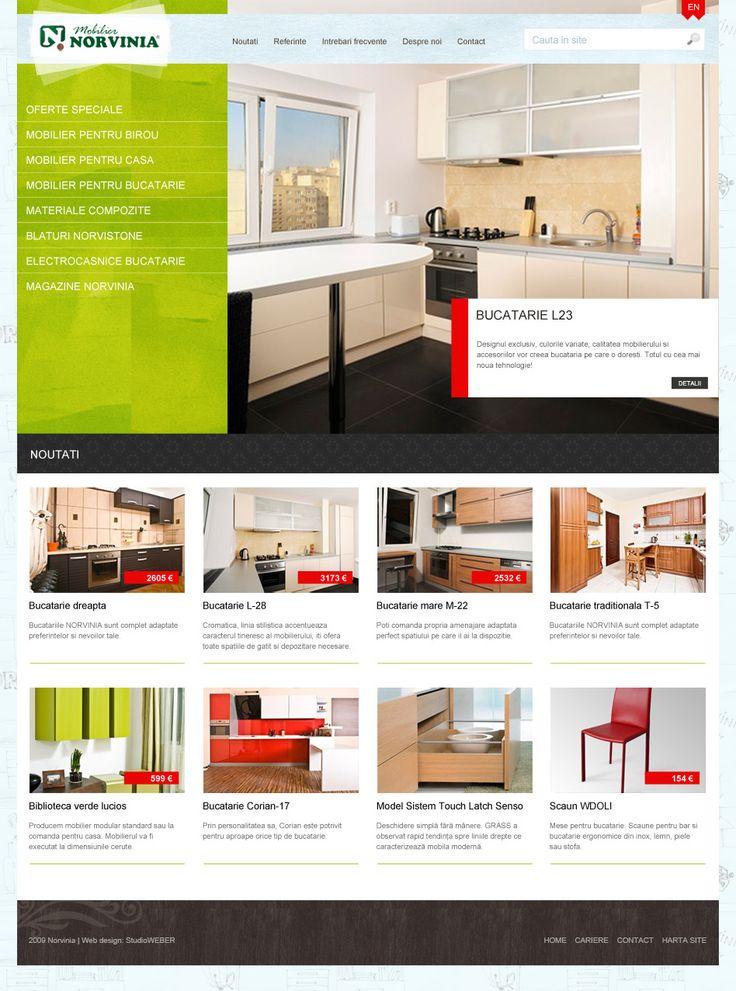 Layout proposition for a furniture e-shop.
