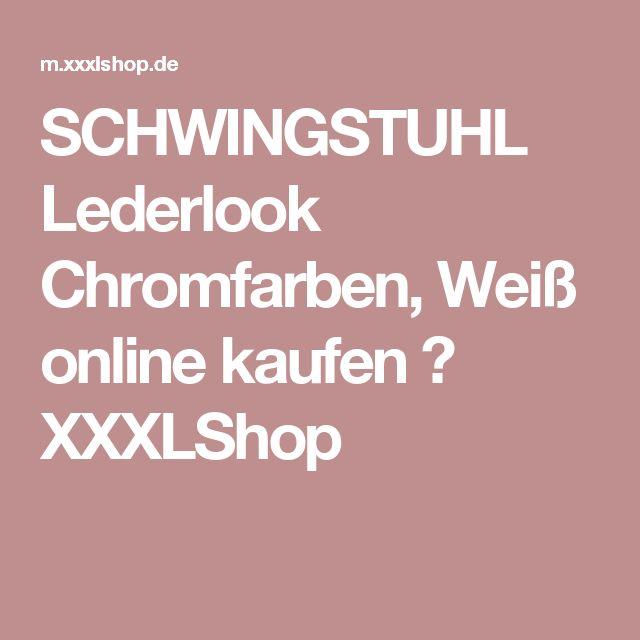SCHWINGSTUHL Lederlook Chromfarben, Weiß online kaufen ➤ XXXLShop
