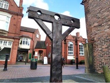 Nantwich Pillory or Nantwich Town Stocks, Nantwich, Cheshire, England
