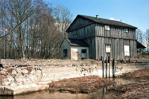 Udziejek - drewniany młyn wodny na Szeszupie. Suwalszczyzna