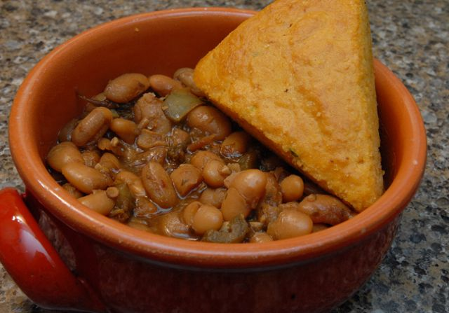 Stewed Mayocoba Beans