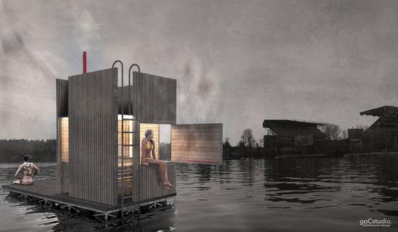 Portable lake sauna