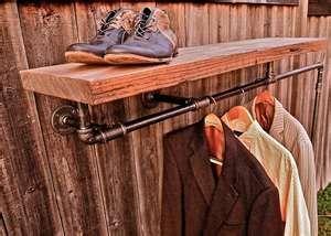 Industrial clothes hanger for laundry room  oooooooooo  old pipe.