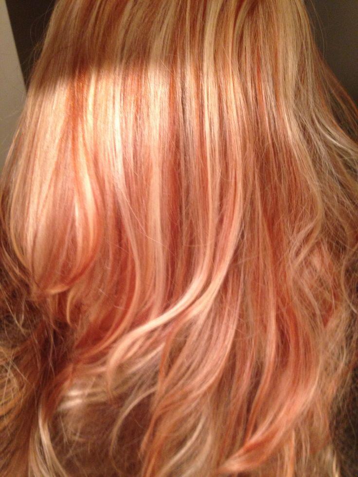 Bright Red With Platinum Highlights Platinum Blonde Hair