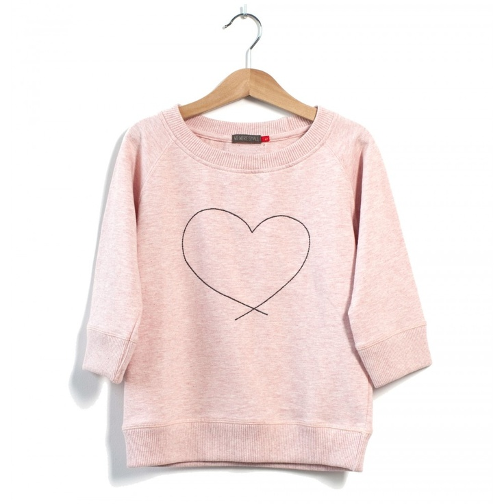 Sweet little pink heart hoodie for babygirl! I think if I got this, I need a matching one for me;)