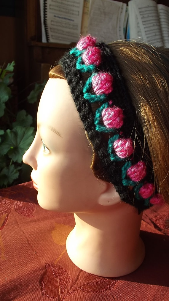 Headband with roses rose rosebud rosebuds by SabinesCountryShop, $20.00
