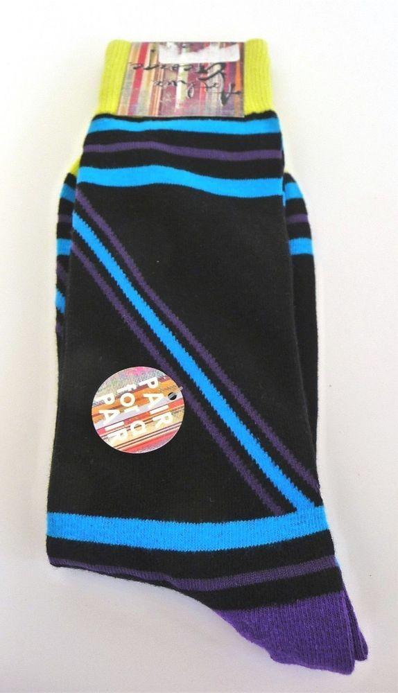 Arthur George by Rob Kardashian Black Multi Color Print Socks 1 Sz Neiman Marcus #ArthurGeorgebyRobertKardashian #Casual