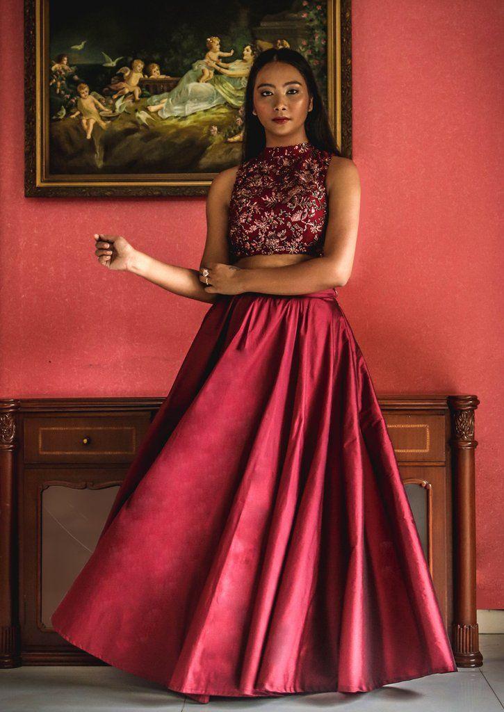Pin By B On Bridesmaid Blouse Design Models Crop Top Skirt Set Fashion Dresses