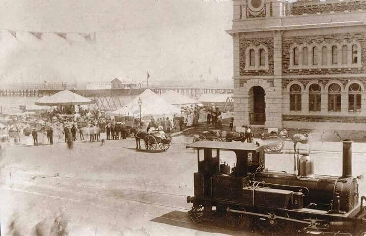 Moseley Square in Glenelg, South Australia in 1881.