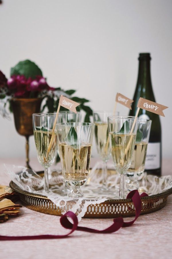 Style Within Reach: Entertaining: Sage Champagne + An Engagement (!!!)