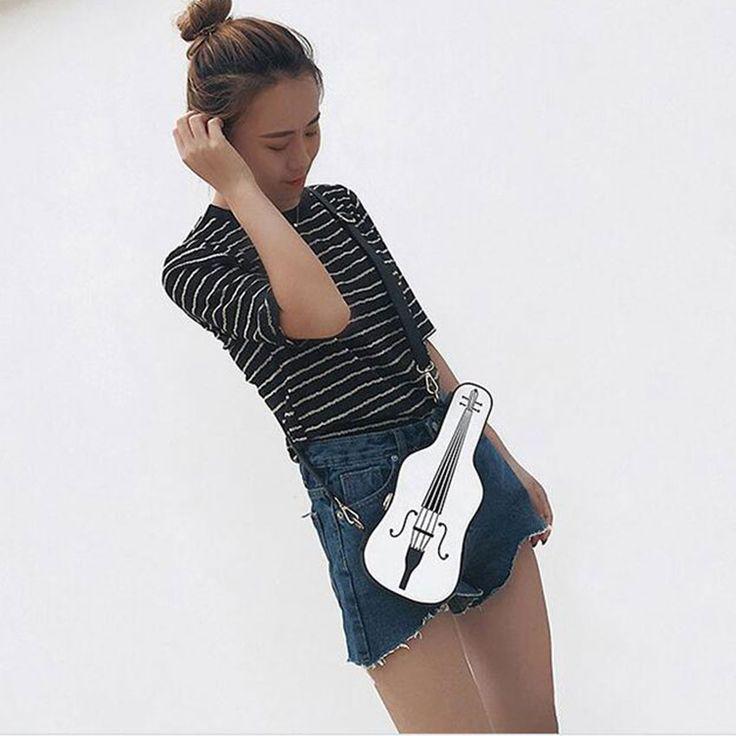 LJT Female 2017 New Mobile Phone Bag Europe Fashion Printing Violin Bag Trend Shoulder Messenger Bag Lady's Mini Crossbody Bag  #Affiliate