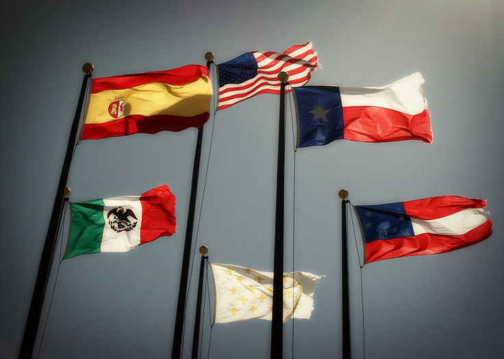 """Six Flags Over Texas is the slogan used to describe the six nations that have had sovereignty over some or all of the current territory of the U.S. state of Texas (Mexico, Spain, France, Confederate States of America, Republic of Texas, United States of America). This slogan has been incorporated into shopping malls, theme parks (Six Flags), and other enterprises. The """"six flags"""" are also shown on the reverse of the Seal of Texas. In 1997 the Texas Historical Commission adopted standard…"""