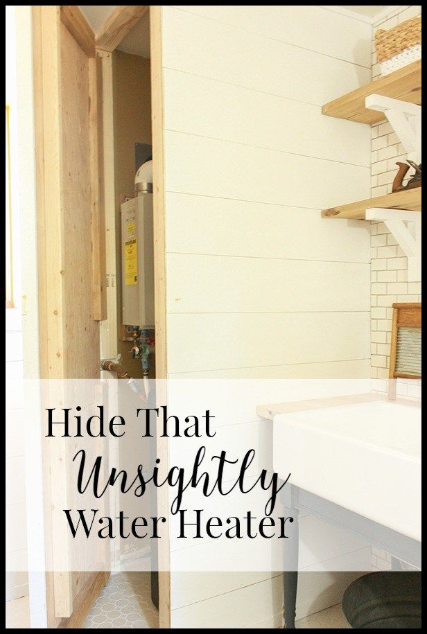 Do you have an unsightly area in home?  I do, it was in my laundry room.  Come see how we hid our unsightly water heater and created a beautiful space.
