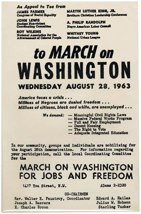 Civil Rights March on Washington 1963 | ... History Explorer Museum Artifacts: March on Washington Handbill