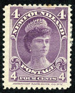 "Newfoundland  1901 Scott 84 4c violet ""Queen Mary as Duchess of York"""