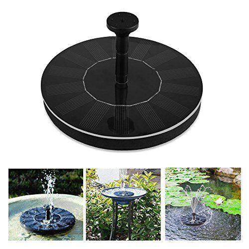 Soledi Set pompe à eau flottante avec panneau solaire pour fontaine de jardin/piscine: Price:14.991. Ce produit est une pompe solaire à…