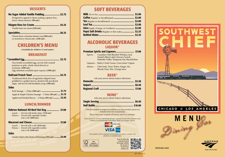Comments on Amtrak food service: How to lose money on $9 ...   Amtrak Snack Car Menu