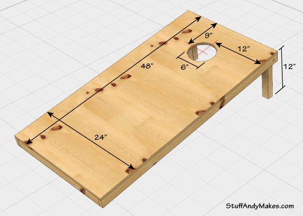 Cornhole Board Dimensions                                                       …