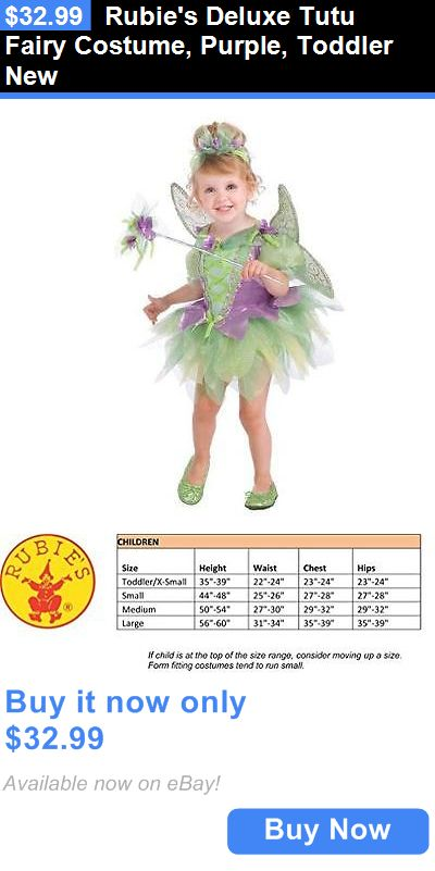 Halloween Costumes Kids: Rubies Deluxe Tutu Fairy Costume, Purple, Toddler New BUY IT NOW ONLY: $32.99