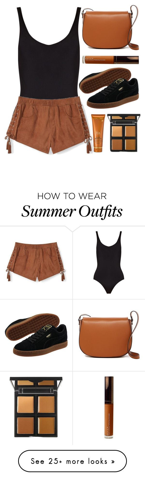 """""""summer"""" by sipoczanna on Polyvore featuring Solid & Striped, Rebecca Minkoff, Puma, Persaman New York, Lancôme, Becca and e.l.f."""