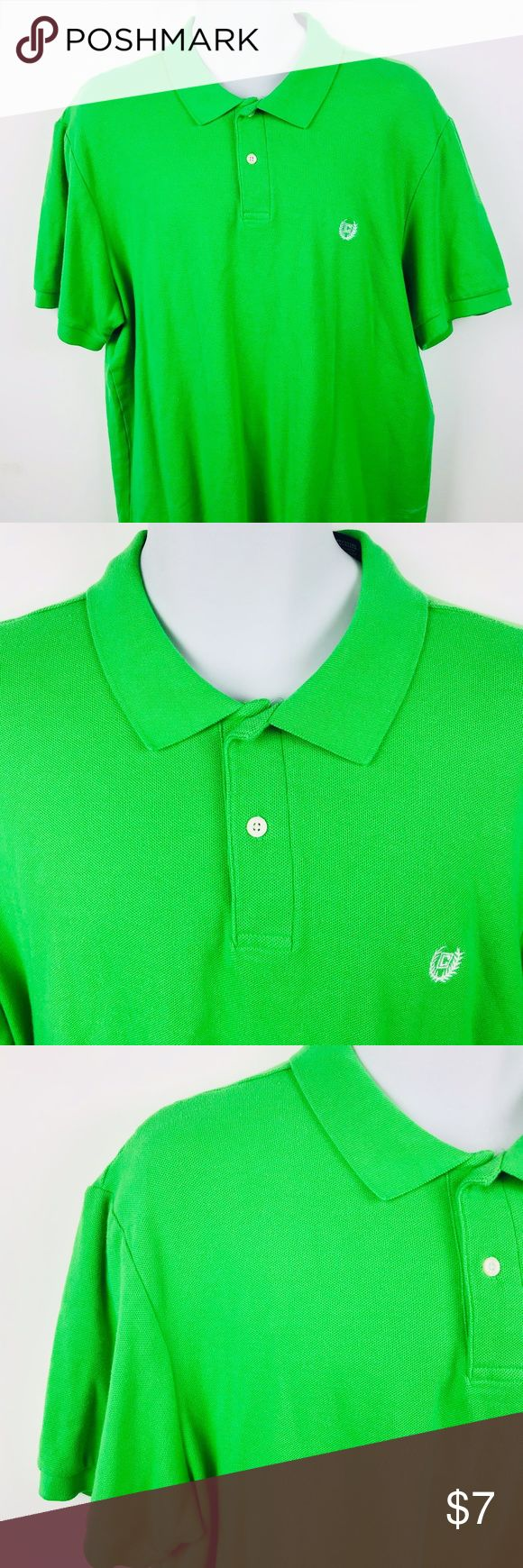 Chaps Shirt size XL Mens Polo Chaps Shirt size XL Mens Green Short Sleeve 100% Cotton Polo  Armpit to Armpit:24.5 Length:31 Chaps Shirts Polos