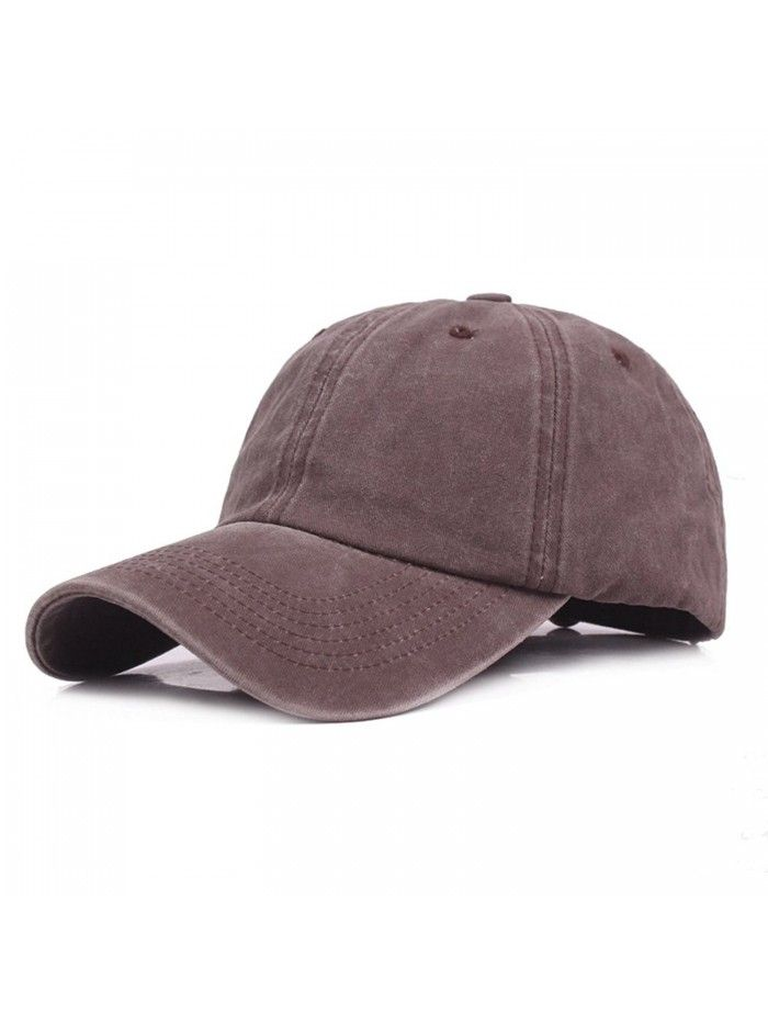 Dad Hat For Men- Mens Adjustable 100% Cotton Baseball Cap - Brown ... 4d97a650179