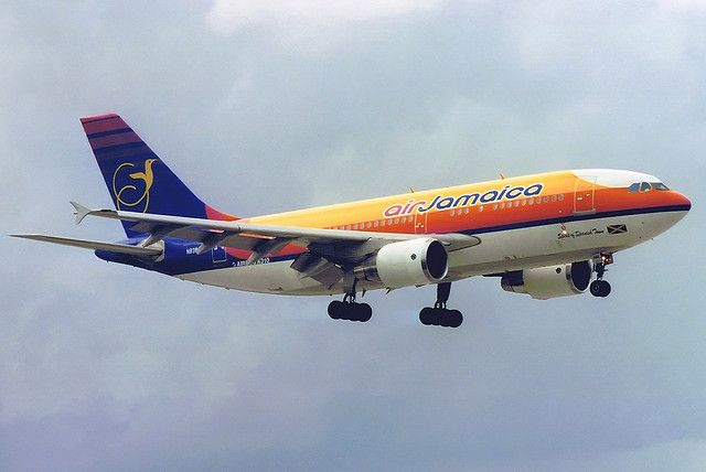 "spanish town jamaica | Air Jamaica Airbus A310-324(ET) N838AB ""Spirit of Spanish Town"" MIA 09 ..."