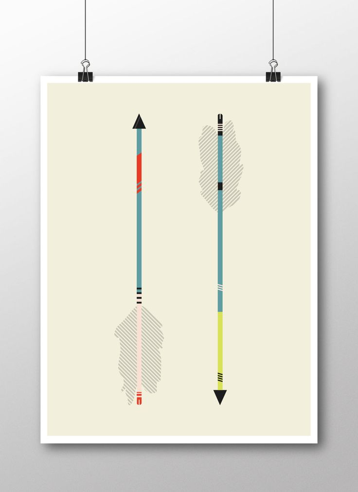 Modern Arrow Poster available at www.slickturtledesign.com