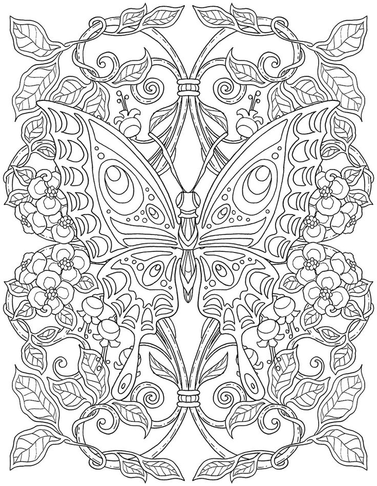 195 best crafty~ advanced coloring pages images on pinterest ... - Advanced Coloring Pages Butterfly