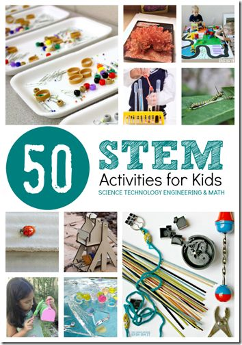 50 Stem Activities for Kids - These are great for summer learning, homeschooling, or science projects throughout the year. So many really fun,unique projects for kids of all ages!