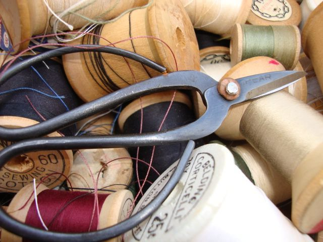 Vintage Thread & Scissors