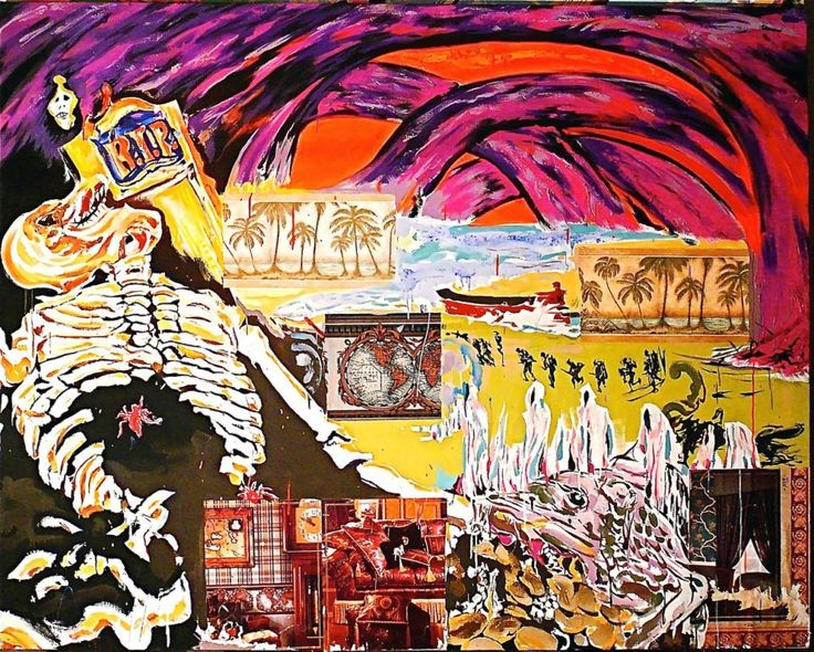 Brett De Palma : Dreaming on the Bowery: Post-Apocalyptic Paintings - Howl! Arts