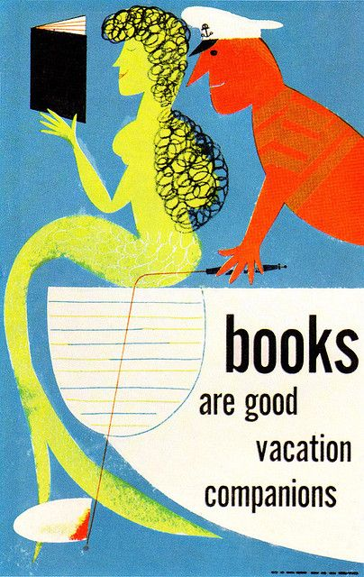 Bill Sokol illustration, part of a series of book promotion showcards for The New York Times.