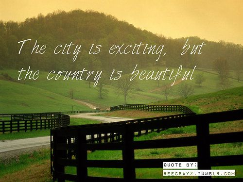 wasn't raised as a country girl, but grew to love the country lifestyle