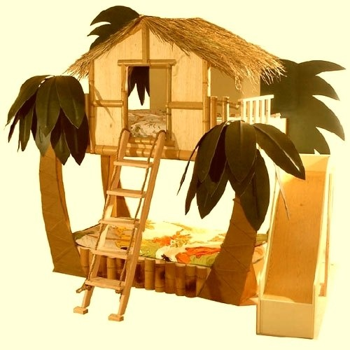 15 Bunk Beds We Wish We Had AsKids   Tropical Surf Shack Bunk Bed. And you can slide out of bed in the morning! I can already hear the fights for the top bunk!