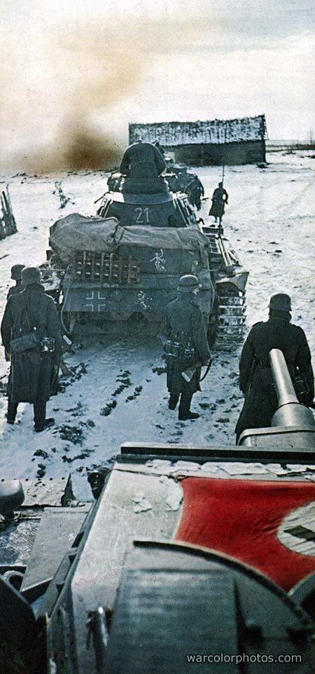 Pz.Kpfw III from 11th Panzer Division, Winter 1941/42 #warphotography #war