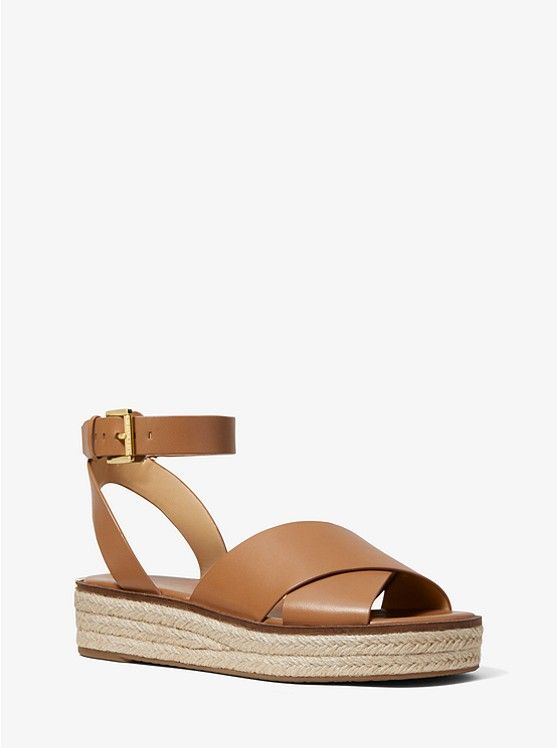 d893b3589e811 Abbott Leather Espadrille Sandal