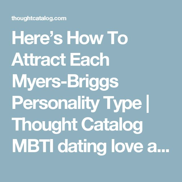 myers briggs personality types and dating