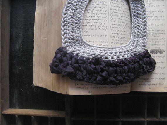 Silk necklace bib necklace cotton yarn yarn by WearitCrochet