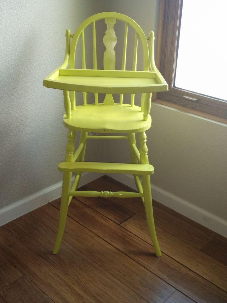 Antique Highchair In Lime Green :) MiniMasterpiecesAZ