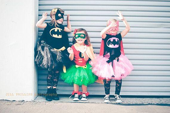 Robin Super Hero Tutu Costume inspired by Batman by KirrasBoutique, $35.95: Super Heroes Tutu, Tutu Costumes, Halloween Costumes, Batman Robins Super, Super Hero Tutu, Batman Inspiration, Pink Batgirl, Inspiration Tutu, Costumes Ideas