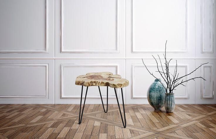 Rustikt naturtræsbord, rod-bord. http://indieliving.dk/shop/naturtraes-bord-dozi-603p.html