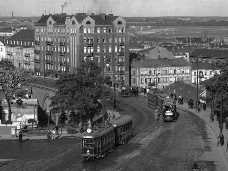 Widok z Placu Zamkowego na Nowy Zjazd 1935r. Fot. fotopolska.eu