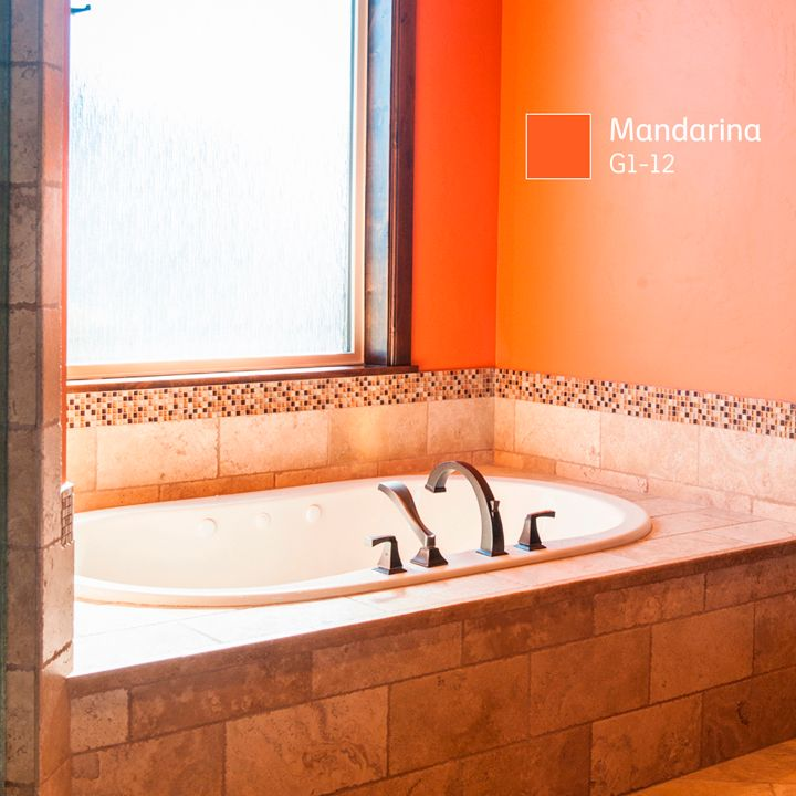 Los #COLORES fuego crean una atmósfera audaz, ¿lo pondrías en el cuarto de baño?