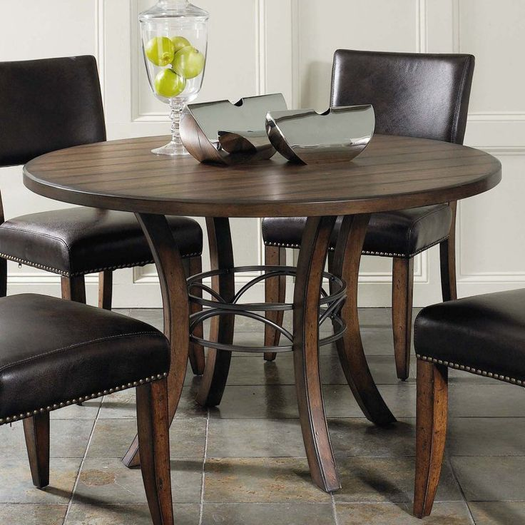 Hillsdale Cameron 5 Piece Round Wood Dining Table Set with Parson Chairs - HL3207