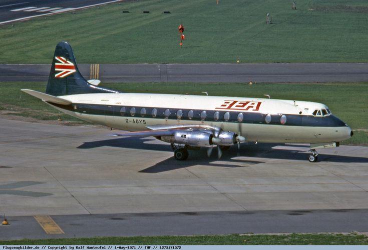 Photo British European Airways (BEA) Vickers Viscount 806 G-AOYS