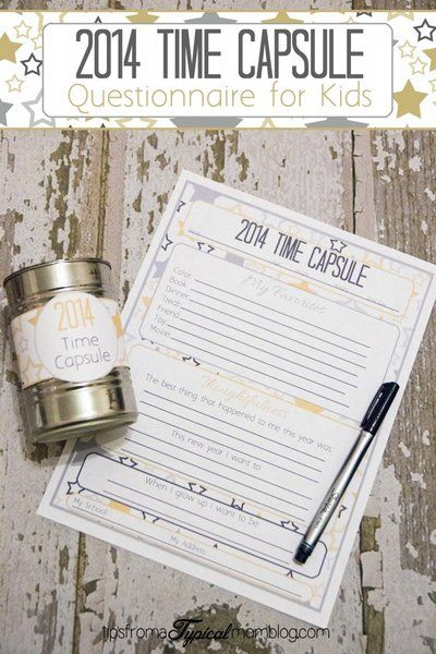 2014 Time Capsule for Kids! Such a sweet and EASY way to freeze a little memory of your littles in time each year! I love how it's small and easy to store too!